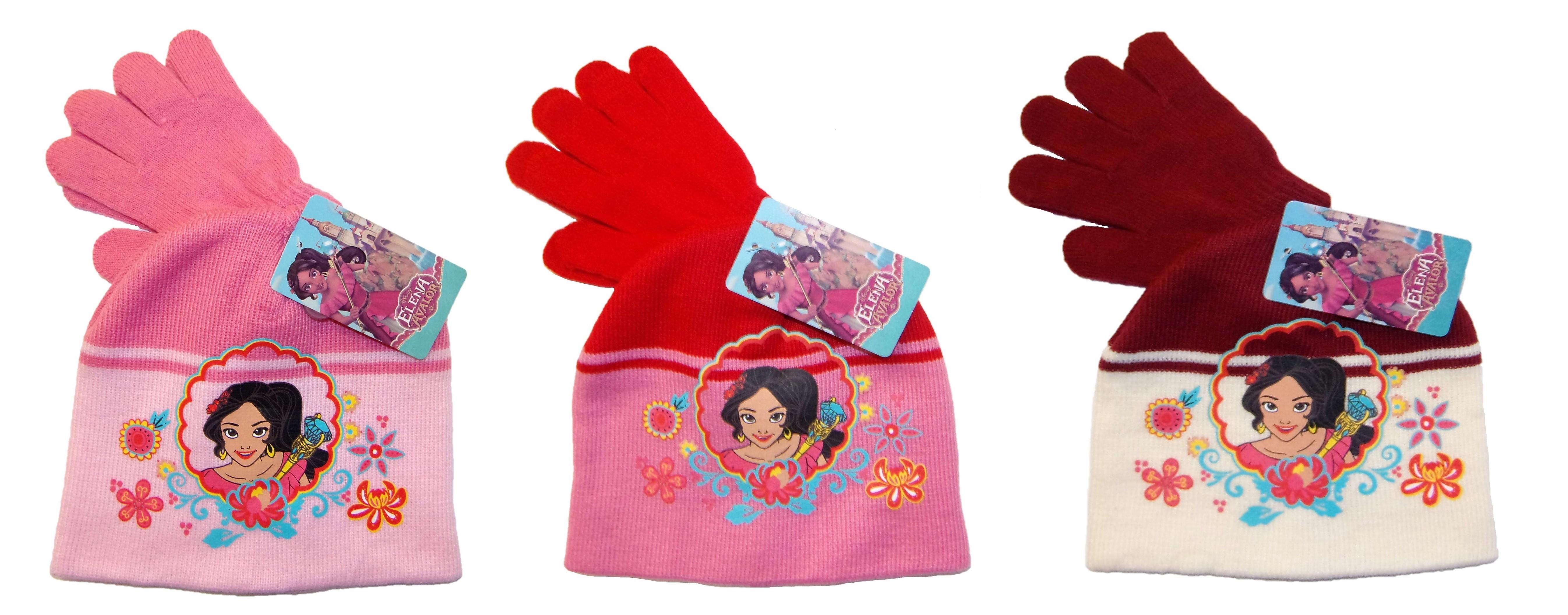 Disney Elena von Avalor Mütze-Handschuhe-Set für Mädchen (Auswahl)