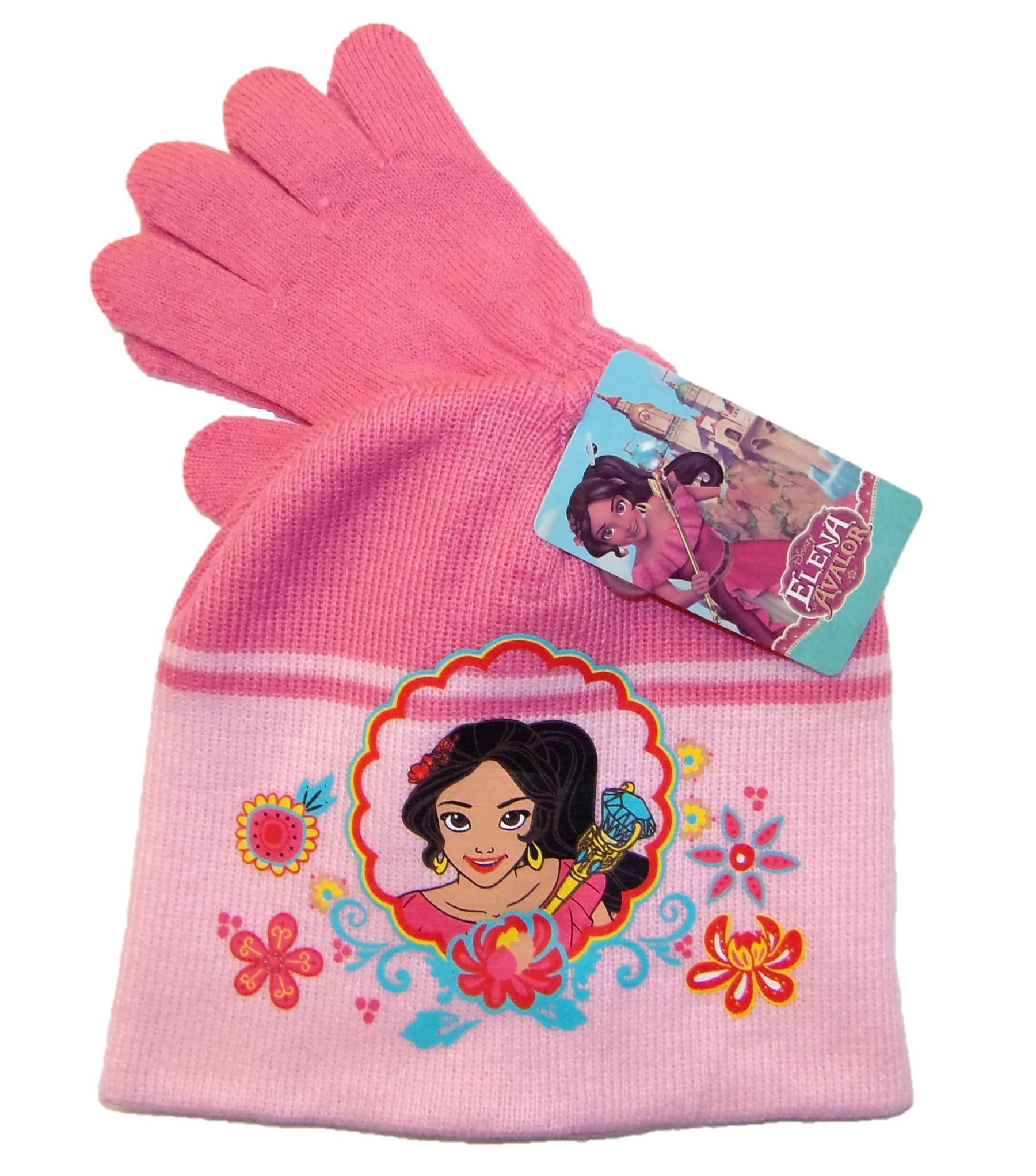 Disney Elena von Avalor Mütze-Handschuhe-Set für Mädchen Rosa 52