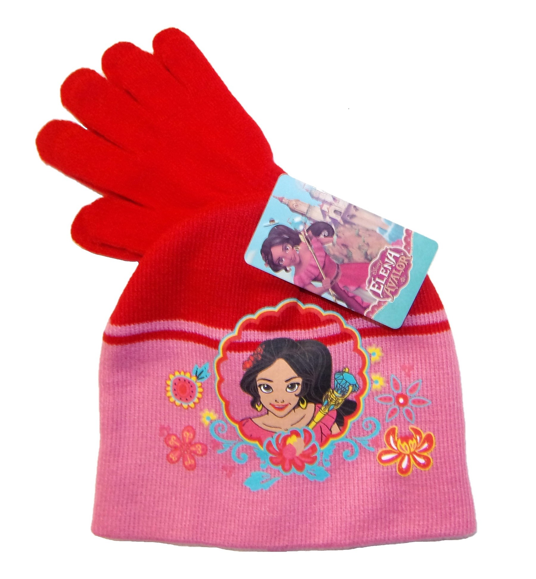 Disney Elena von Avalor Mütze-Handschuhe-Set für Mädchen Rot 54