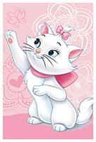 Disney Fleecedecke The Aristocats - Kätzchen Marie mit Schmetterling Rosa für Kinder