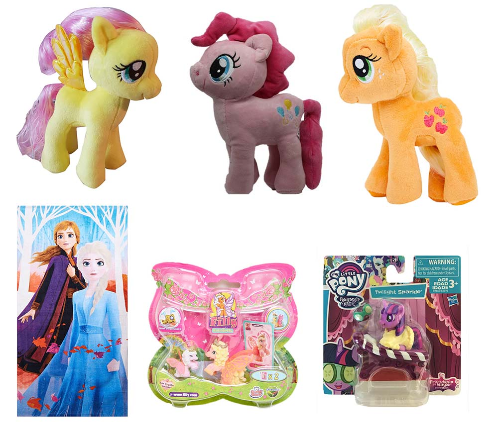 Disney Frozen Anna Elsa My Little Pony Fluttershy Apple Jack TY Filly Butterfly