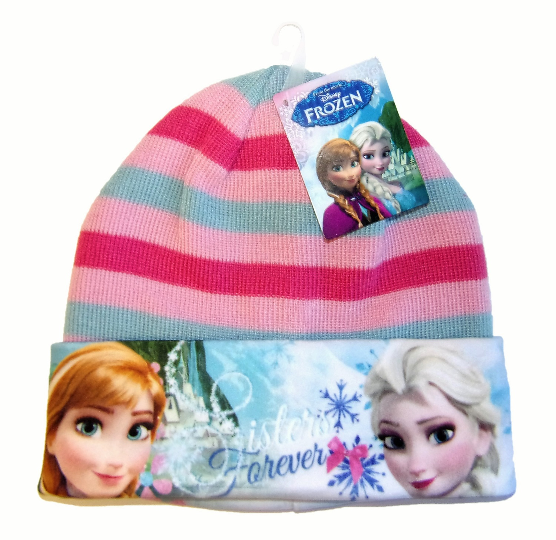 Disney Frozen Anna und Elsa Mütze für Mädchen Rosa-Grau 52