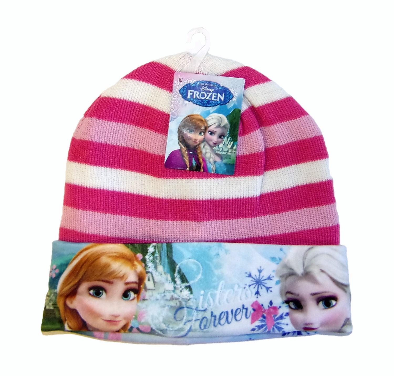 Disney Frozen Anna und Elsa Mütze für Mädchen Rosa-Weiß 52