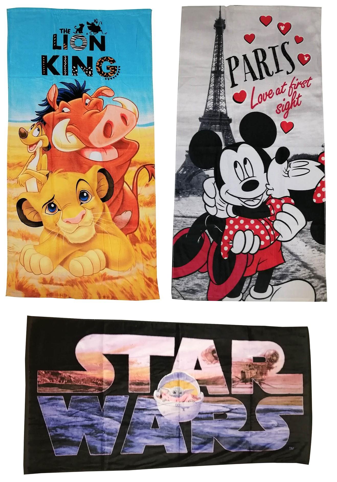 Disney Handtuch Film Motive Strandtuch 70 x 140 cm 100% Baumwolle (Auswahl)