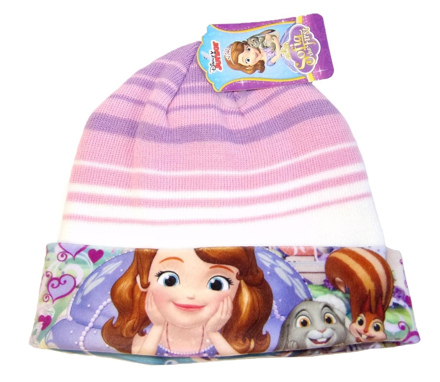 Disney Junior Sofia Mütze für Kinder, Mädchen Lila-Rosa 52