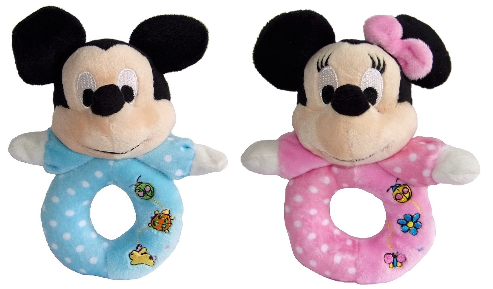 Disney Mickey Maus Baby-Rassel in blau oder rosa für Babys (Auswahl)