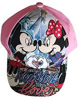 Disney Mickey Maus Kappe, Basecap From New York with love für Kinder, pink, Größe 52