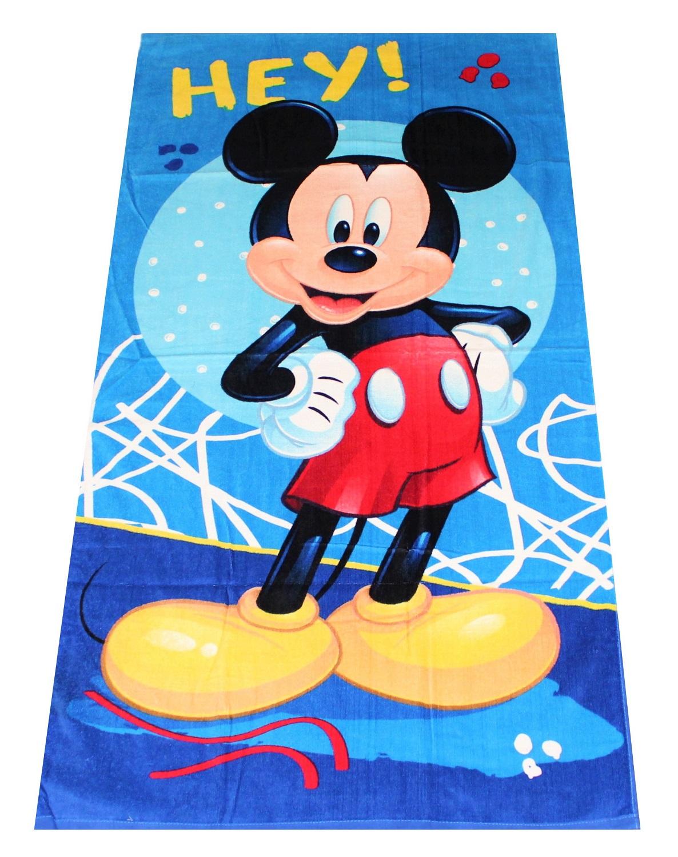Disney Mickey Maus Handtuch Hey! 70 x 140 cm, 100% Baumwolle