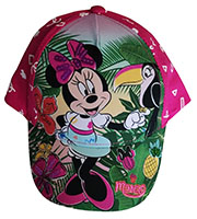 Disney Minnie Maus Kinder-Kappe, Base Cap, Minnie im Dschungel, Pink, Gr.48
