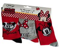 Disney Mickey und Minnie Maus Socken 3-er Pack rot-grau für Kinder (Auswahl)