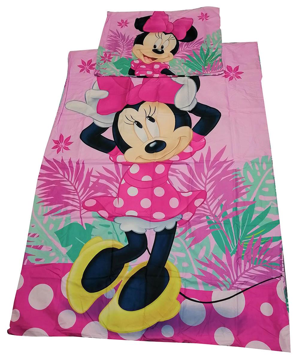Disney Bettwäsche-Set Minnie Maus Tropic, 100 % Polyester, 140 x 200 + 70 x 90 cm