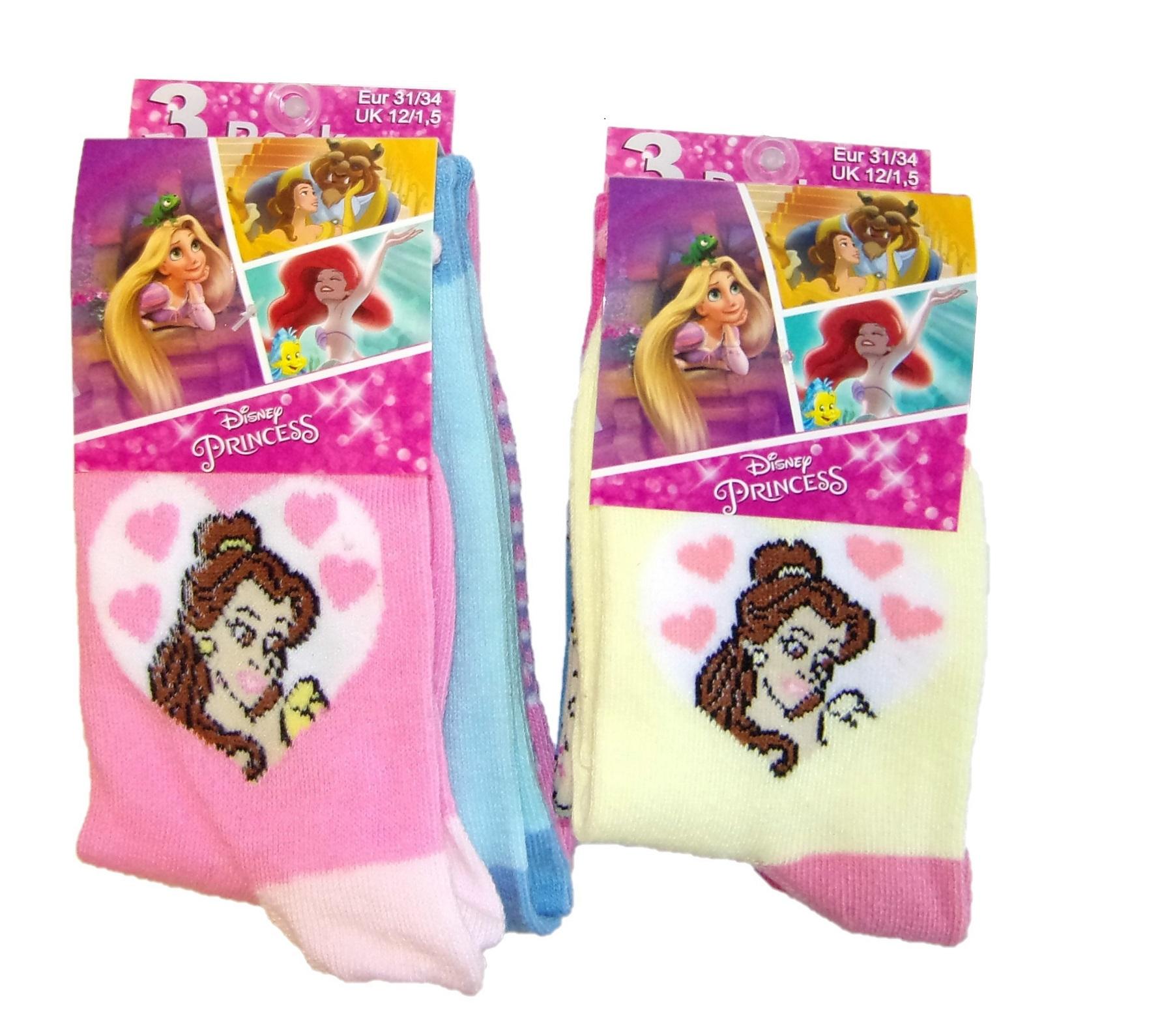 Disney Princess Socken für Mädchen 31/34 (6er Pack)