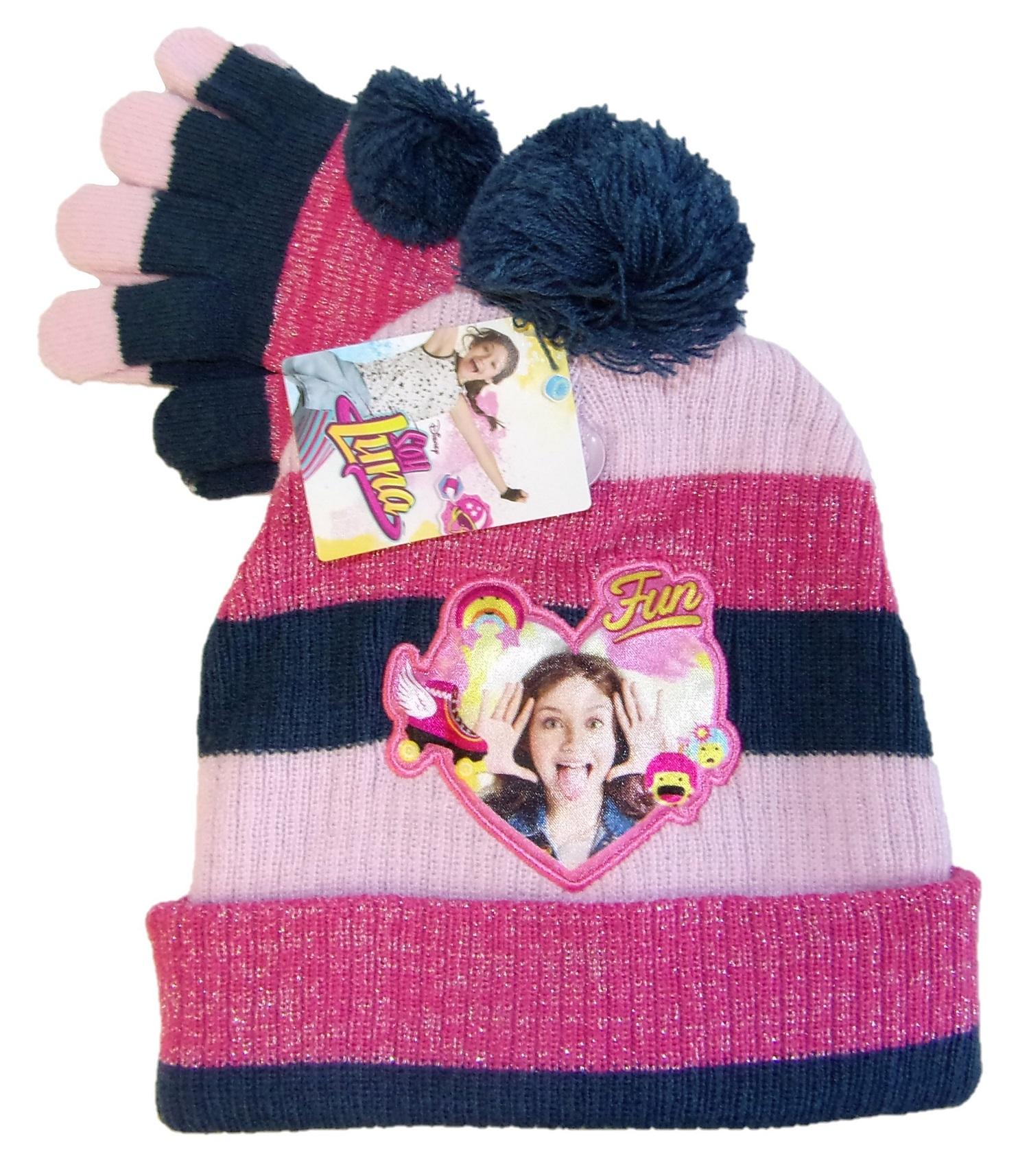 Disney Soy Luna Mütze-Handschuhe-Set für Mädchen Blau 54
