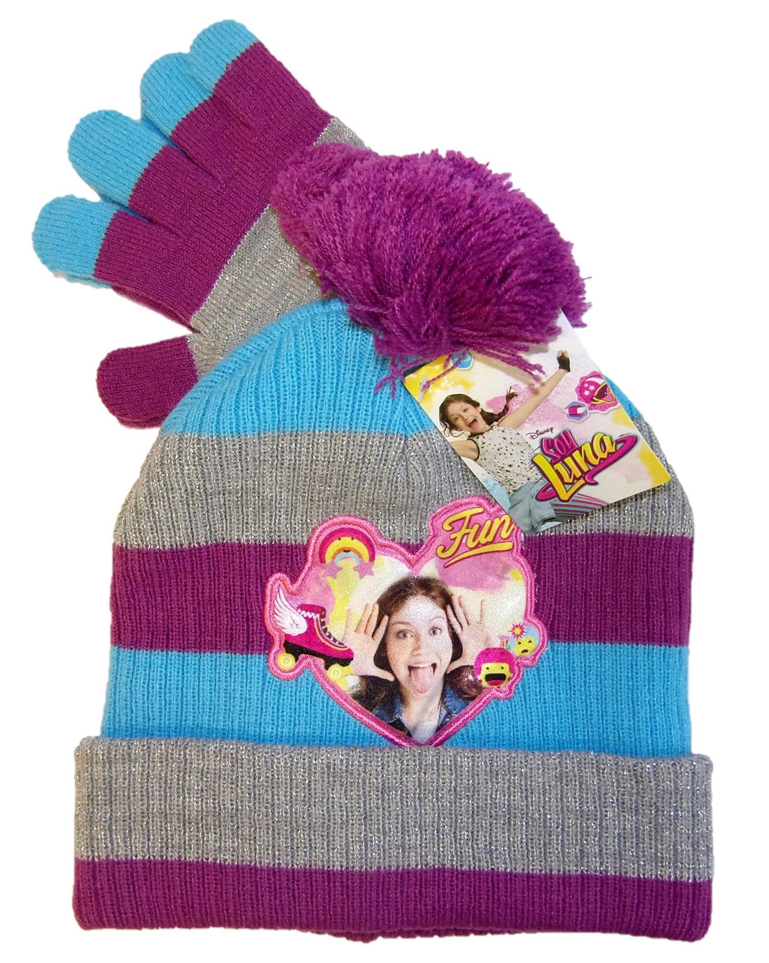 Disney Soy Luna Mütze-Handschuhe-Set für Mädchen Lila 52