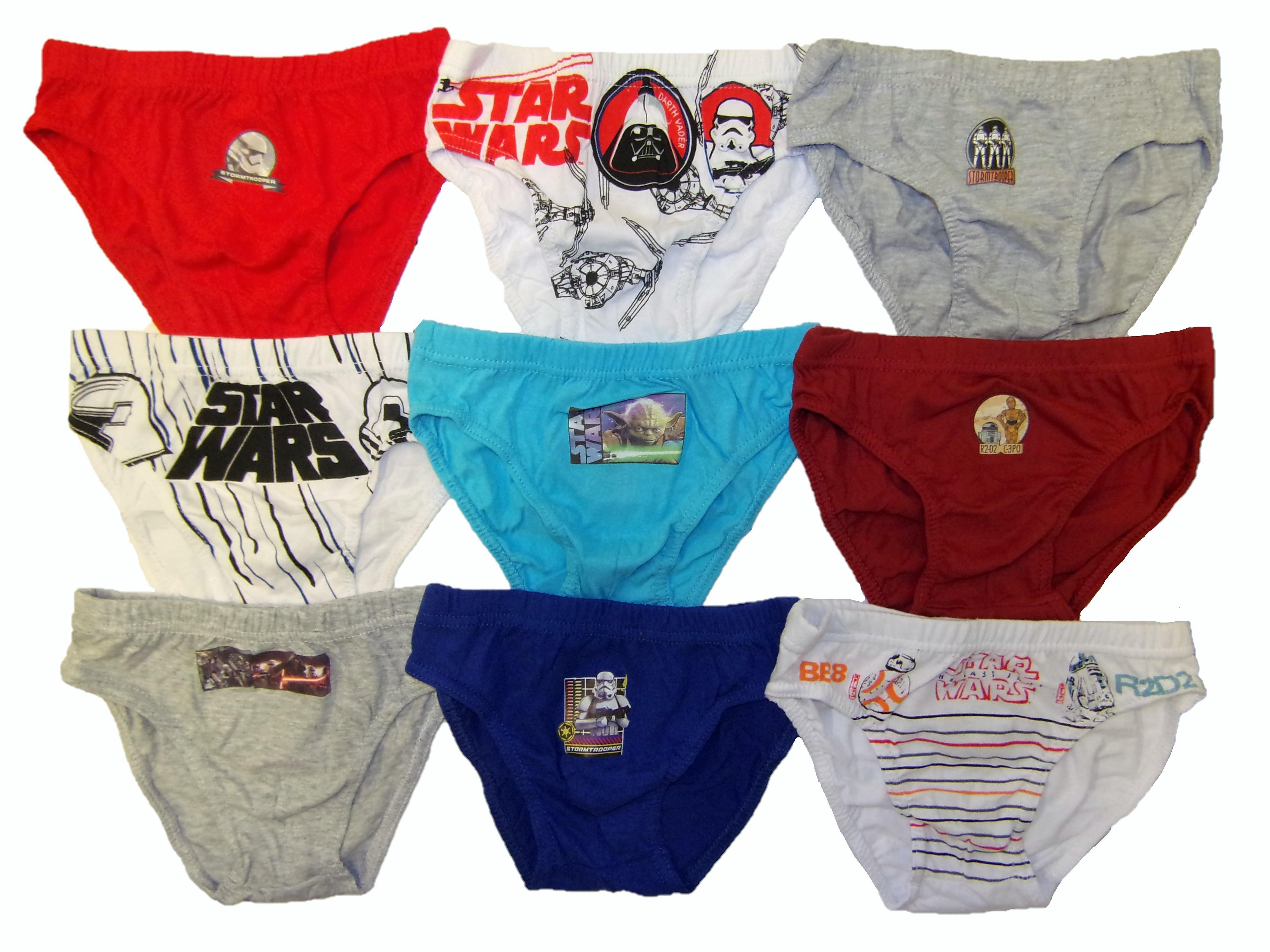 Disney Star Wars Jungen Slips 9er Pack für Kinder verschiedene Größen
