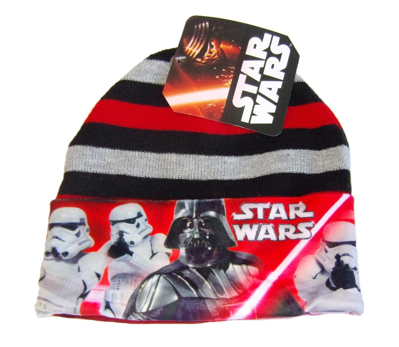 Disney Star Wars Mütze Darth Vader für Kinder Rot-Schwarz 52