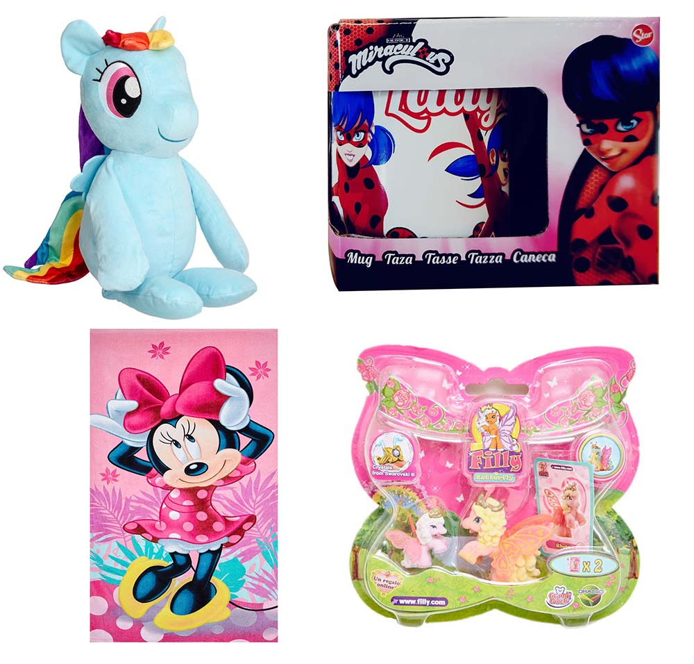 Dracco Filly Butterfly Miraculous Ladybug Disney Minnie Maus My Little Pony pink