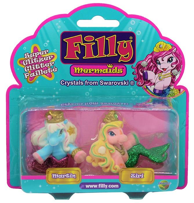 Dracco Filly Mermaids Martin & Ziri 2er-Pack Glitzer M063010