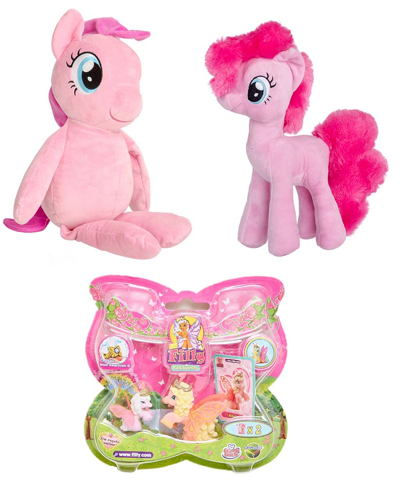 Dracco UT20582 Filly Butterfly Hasbro My Little Pony Pinkie Pie C0123EP6 Plüsch