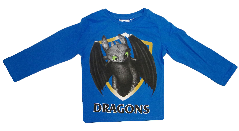 DreamWorks Dragons Langarm-Shirt für Kinder blau verschiedene Größen