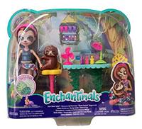 """Enchantimals GFN54 - """"Kleine Auszeit"""" Nagelstudio Sela Sloth und Treebody, Puppenzubehör"""