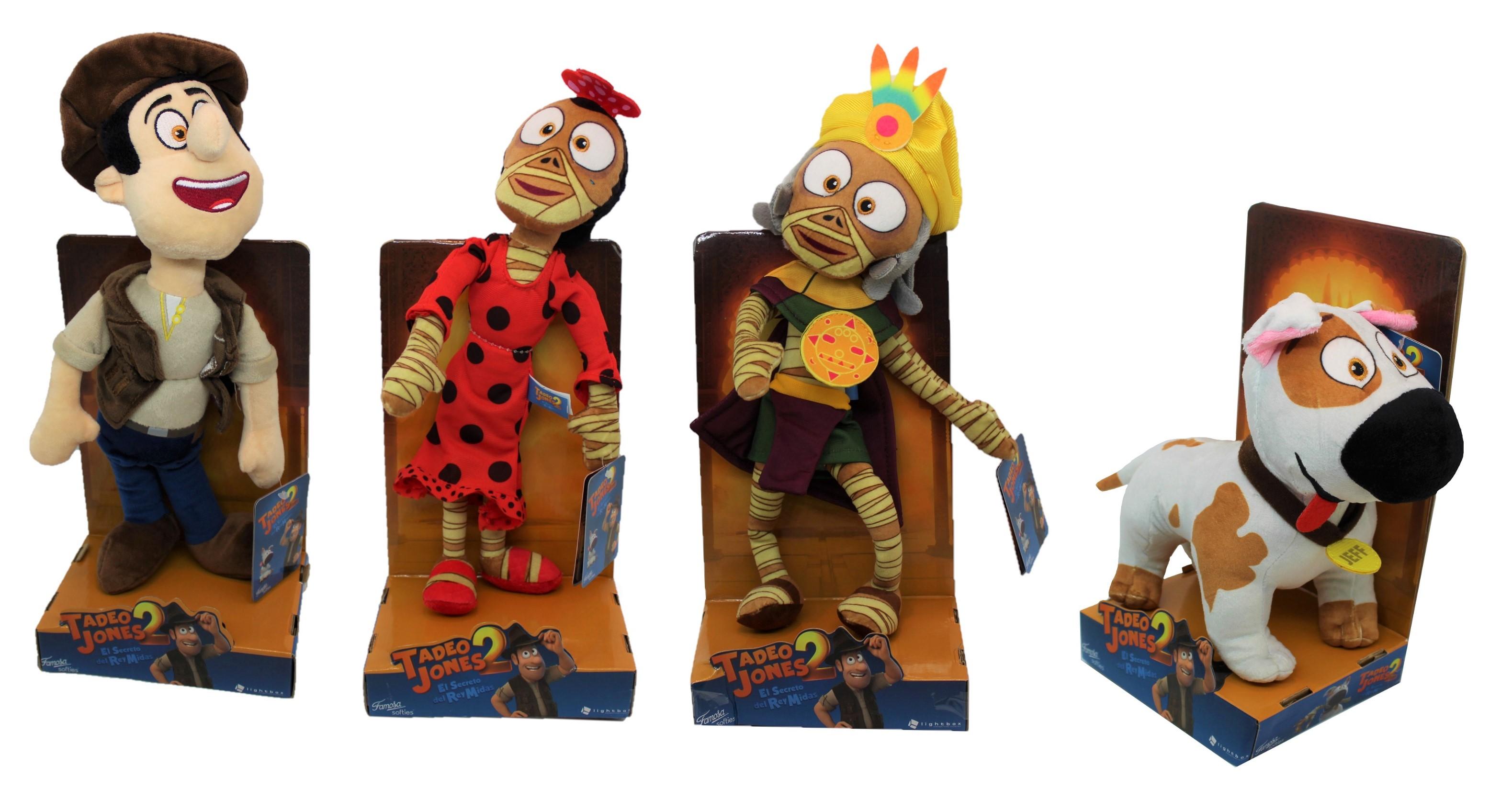 Famosa Tadeo Jones 2 verschiedene Plüschfiguren (Auswahl)