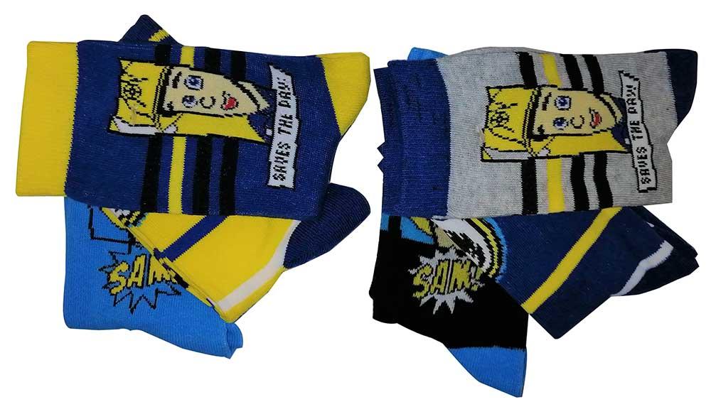 Feuerwehrmann Sam 6er Pack Kinder Socken versch. Größen (Auswahl)