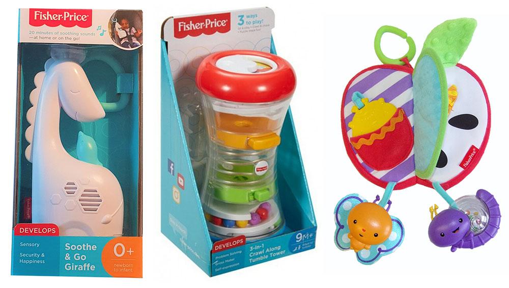 Fisher-Price Mattel Spielapfel DPF88 Baby-Spieluhr Giraffe FGG90 DRG12 Spielturm