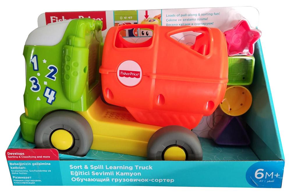 Fisher-Price GFY41 LKW mit Licht und Musik, Nachziehspielzeug für Kleinkinder