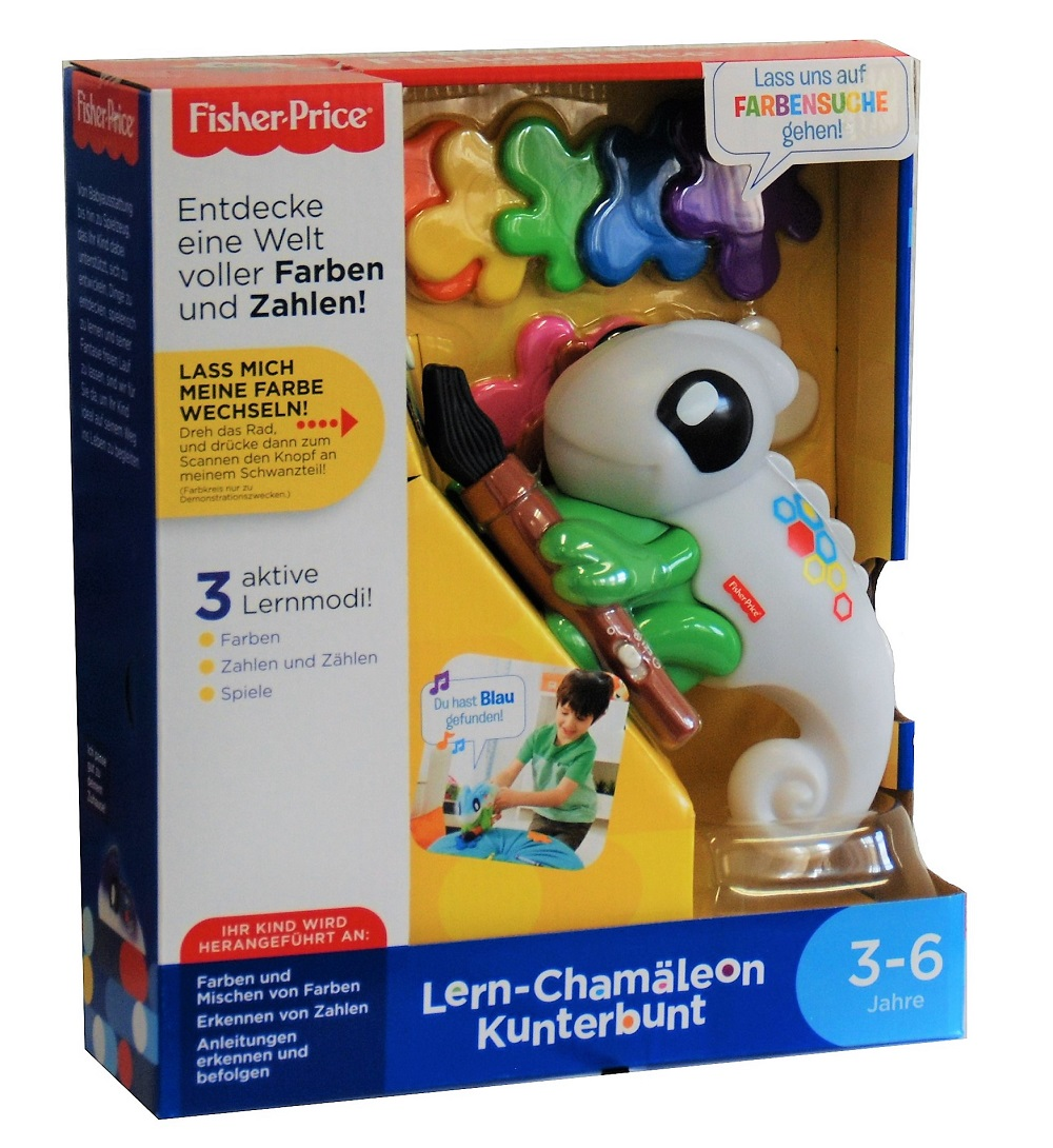 Fisher-Price Lern-Chamäleon Kunterbunt FCG88