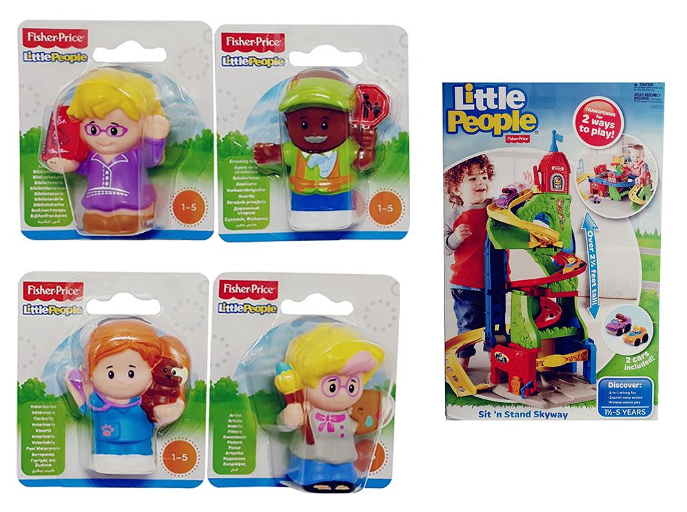 Fisher-Price Little People Y3684 DFT71 Rennbahn Malerin Bibliothekarin Set