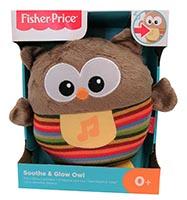 Fisher-Price CDN55  Plüscheule (leuchtend) mit Geräuschen und Beißringe am Fuß mehrfarbig