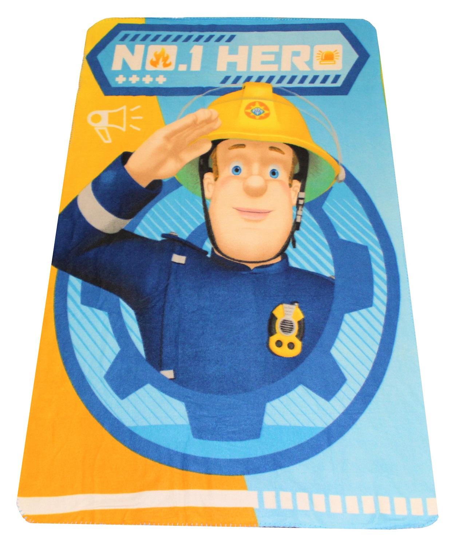 Fireman Sam Fleecedecke Feuerwehrmann Sam Hero 100 x 150 cm