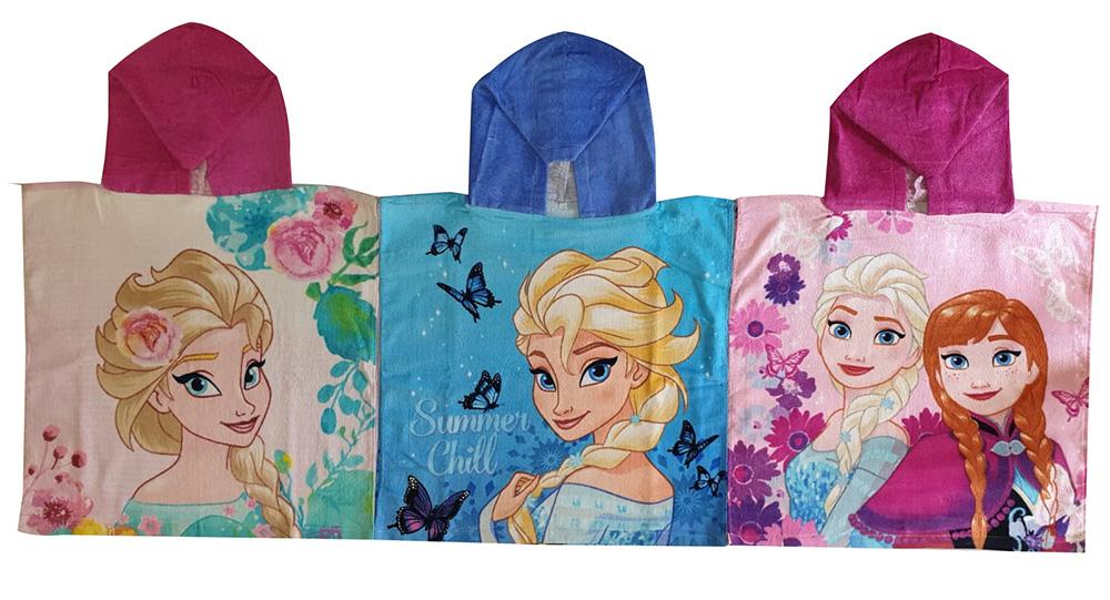 Disney Frozen - Die Eiskönigin Bade-Ponchos mit Kapuze, drei Charaktere(Auswahl)