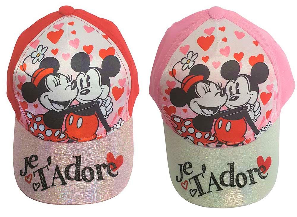 Glitzer Cappy Minnie und Micky Maus Je t'adore (Auswahl)