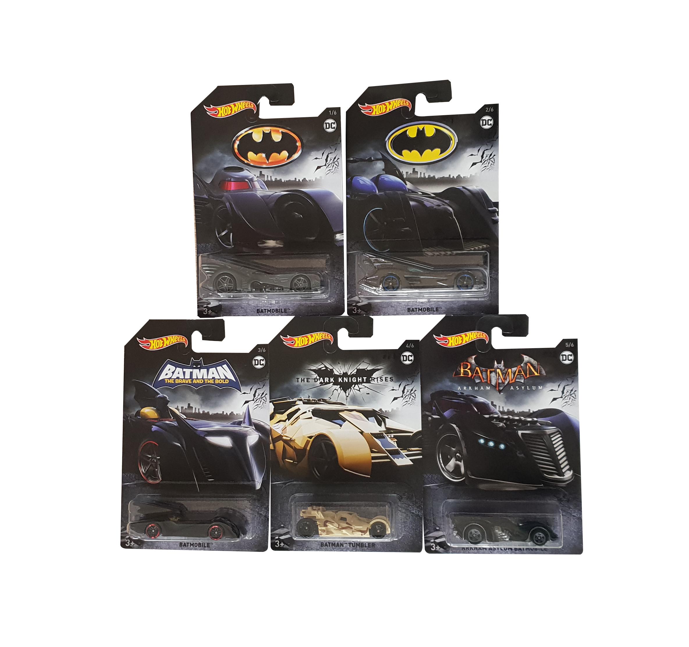Hot Wheels Batman Batmobile 5 verschiedene Fahrzeuge im Set FKF36