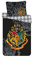 Bettwäsche Set Harry Potter Hogwarts Wappen 140x200 + 70x90 cm, 100% Baumwolle mit Reißverschluss
