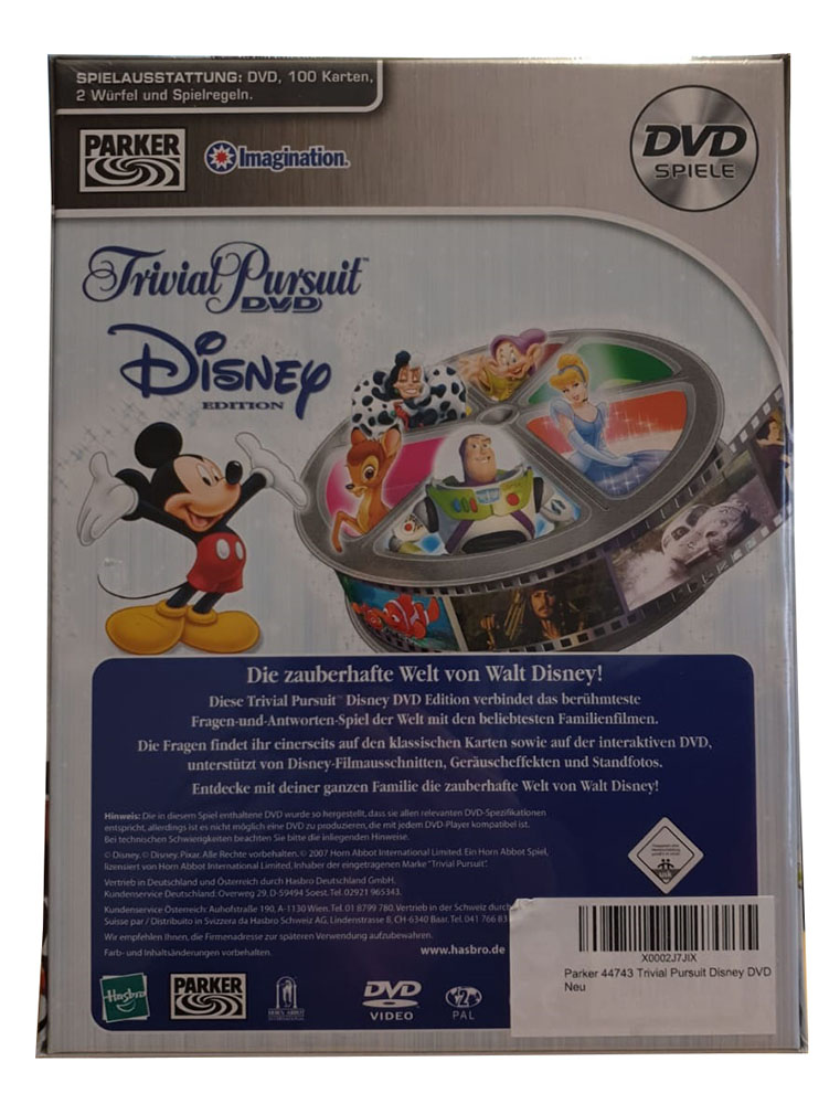 Hasbro - Parker 44743 Trivial Pursuit Disney DVD