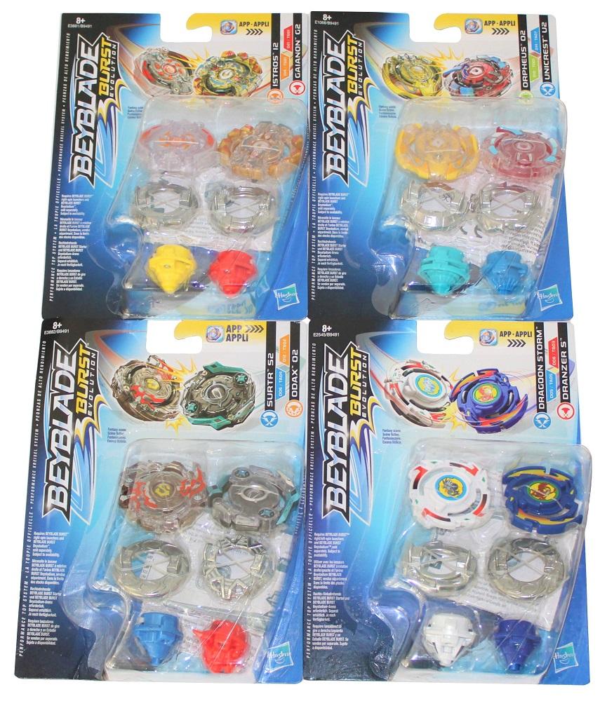 Hasbro Beyblade Burst Evolution Kreisel 4 Dual Packs (8 Kreisel)