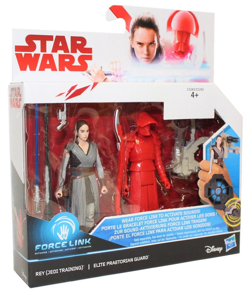 Hasbro Disney Star Wars Force Link Figuren Set Rey und Praetorian Guard