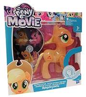 Hasbro C3330 My Little Pony The Movie Leuchtende Freunde Ponyfigur Applejack orange 15 cm