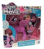 Hasbro C3329 My Little Pony The Movie Leuchtende Freunde Ponyfigur Twilight Sparkle lila 15 cm