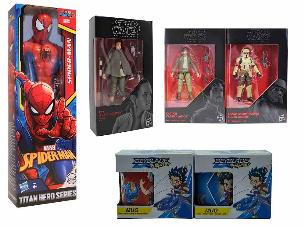 Hasbro Spider-Man Star Wars Cassian Stormtropper REY Beyblade Burst Actionfigur