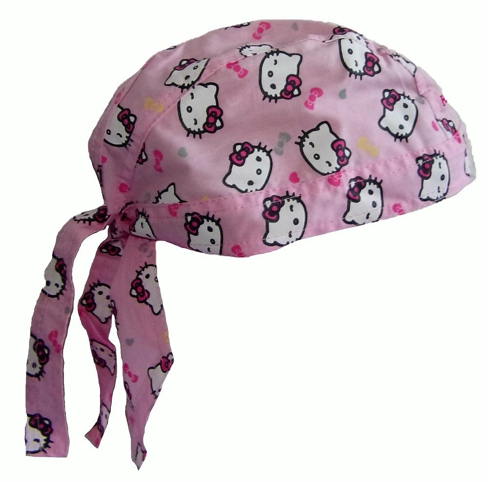 Hello Kitty Bandana-Tuch, Kopftuch in Rosa für Mädchen