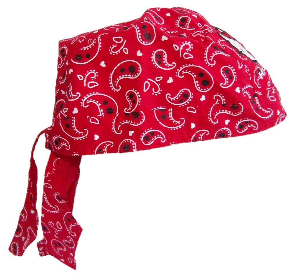 Hello Kitty Bandana-Tuch, Kopftuch Rot für Mädchen
