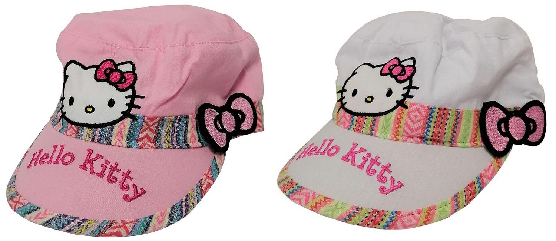 Hello Kitty Mädchen Girl Kappe mit Süßer Schleife in rosa oder weiß für Kinder (Auswahl)