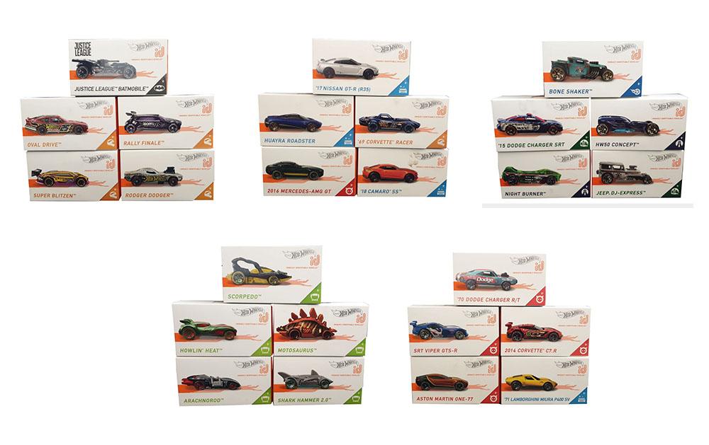 5-er-Pack Hot Wheels unterschiedliche Modelle und Farben zum Spielen und Sammeln