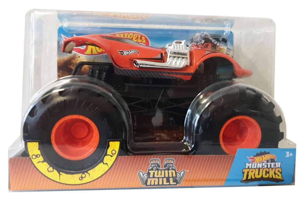 Hot Wheels GJG70 - Monster Trucks 1:24 Spielzeugauto Die-Cast Twin Mill