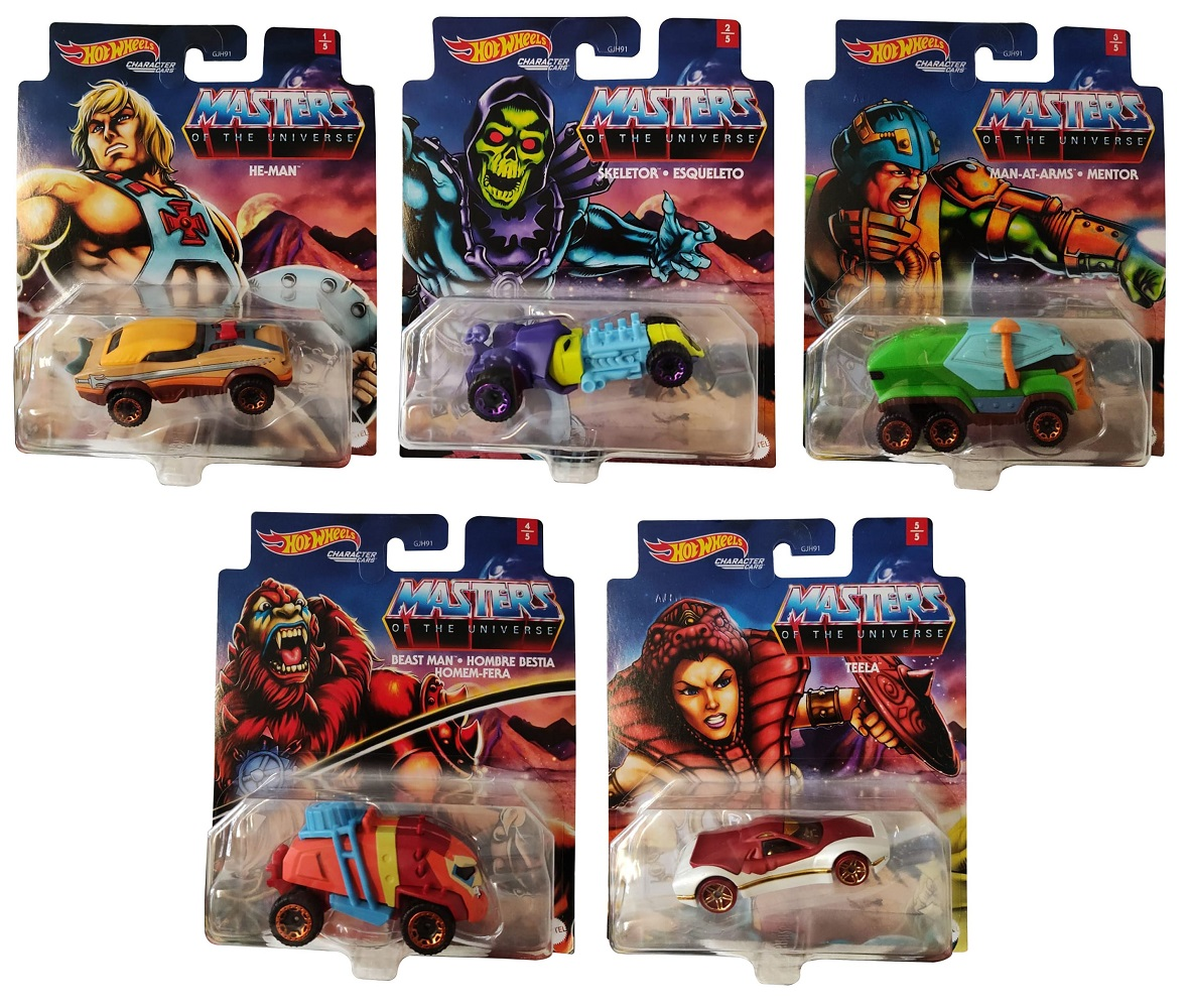 Hot Wheels GJH91 Character Cars Masters Of The Universe Charakterautos (Auswahl)