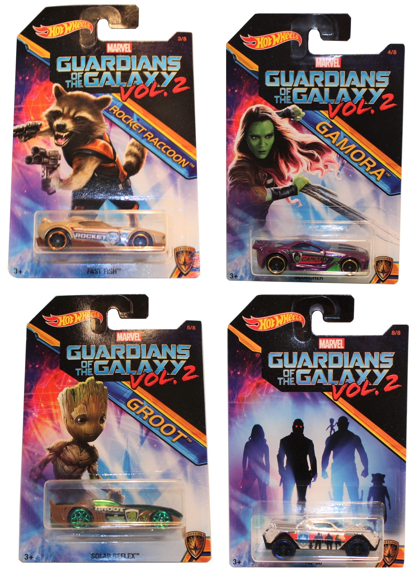 Hot Wheels Guardians of the Galaxy 4er Set Modell-Autos 1:64 Teil 1